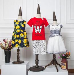 $enCountryForm.capitalKeyWord NZ - 8year 1PC Children's clothes lovely model props vertebral shape children's half-length linen body mannequin,Disc base display stand,C527