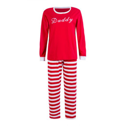 Family Matching Christmas Red Striped Long Sleeve Pajamas Set Mommy Daddy Kids  Xmas New Year Sleepwear Nightwear Outfits 19ba512e6