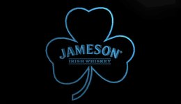 $enCountryForm.capitalKeyWord Australia - LS802-b- Jameson Whiskey Shamrock 3D LED Neon Light Sign Customize on Demand 8 colors to choose