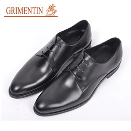 $enCountryForm.capitalKeyWord Australia - GRIMENTIN Hot sale men genuine leather shoes Italian fashion designer dress mens formal shoes high quality black men oxford shoes new RC