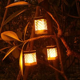 Solar Flickering Dancing Lantern Outdoor Hanging Garden Lights Solar  Powered Flame Torch Lanterns For Pathway Garden Deck Waterproof