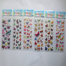 Pvc Puffy Stickers Australia - whoelsale 20pcs lot Hot sales Beautiful Cute cartoon Butterfly Stickers PVC Reward Kids Cute Cartoon Puffy Bubble Toys Stickers