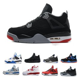 17b0a275954 High Quality 4s Mens Basketball Shoes 4s White Cement Black Red 4 Superman  Fashion Sports Shoes
