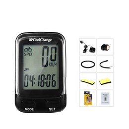 CyCle Computer waterproof online shopping - Black Bike Computers Cycling Mountain Bike Parts Outdoor Cycle Wired Waterproof Mileage Velocimeter Big Caption Backlight Tools kg ii