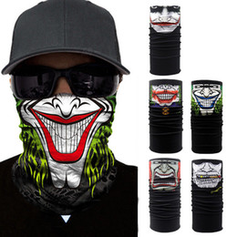 skull half face paintball mask 2019 - Skull Face Mask Halloween Skull Bandana Motorcycle Face Mask Neck Scarves Wraps Paintball Sport Cycling Headband Scarf M