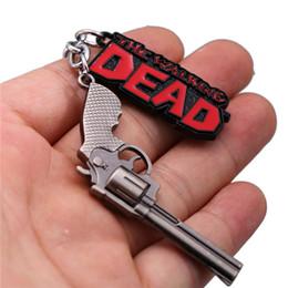 $enCountryForm.capitalKeyWord NZ - Movie Novelty Dead Gun Keychain Metal Alloy Key Ring Holder Fashion Chaveiro For Men Jewelry Birthday Gifts