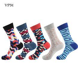 $enCountryForm.capitalKeyWord UK - wholesale 5 pairs lot New Cotton Men's Socks Happy Harajuku Colorful Street Style Hip Hop Business Dress Sock Big Size Gift Box
