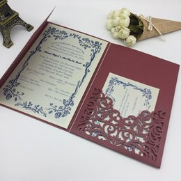 2018 Wedding Invitation Fashion Laser Cut Suites Pattern Customization Invites Three Dimensional Cards For Invitations