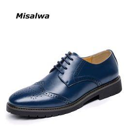 $enCountryForm.capitalKeyWord NZ - Misalwa New 2017 Men British Brogue Shoes Men Oxfords Casual Leather Flats Free Drop Shipping