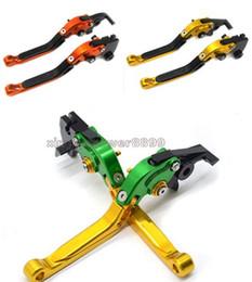 Levers For Kawasaki Australia - CNC Foldable Extendable Brake Clutch lever For Kawasaki Ninja ZX6R ZX9R ZX10R ZX12R Z1000 VERSYS 1000 ZZR600