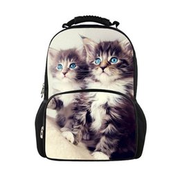 98784cf9c2a wholesale Cute Cat Backpack Women Backpacks For Teenage Girl School Bag  Casual Black Printing Rucksack Mochilas Back Pack Bag
