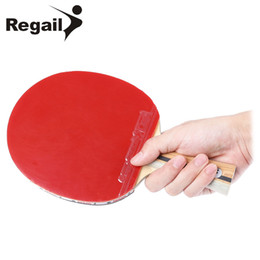REGAIL D - 007X Table Tennis Ping Pong Racket Single Long Handle Paddle Bat lightweight sparking sponge with powerful stamina on Sale