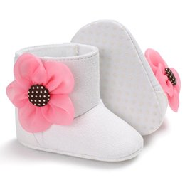 $enCountryForm.capitalKeyWord Australia - 1 Pair Baby Shoes Boots Newborn Infant Girl Floral Warm Soft Sole Flat Toddler Kids Snow Boots Winter Shoes