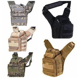 camera slings 2019 - Men Army Style Cross Body Pack Men Single Strap Sling One Shoulder CampBags Camera Backpack Rucksack LJJD15 cheap camera