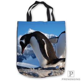 $enCountryForm.capitalKeyWord Canada - Custom Canvas Cute-Penguin-Jumping Tote Shoulder Shopping Bag Casual Beach HandBag Daily Use Foldable Canvas #180713-03-46.5
