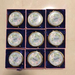 $enCountryForm.capitalKeyWord Canada - Unique Custom logo Compact Mirror Bachorette party Bridesmaid Gifts Wedding Favors 1 pcs lot free shipping wholesales