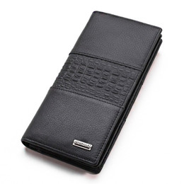 $enCountryForm.capitalKeyWord NZ - Men Wallet Long Genuine Leather Purse Long Large Capacity Clutch Male Business Money Bag Cell Phone Pocket High Quality Wallets