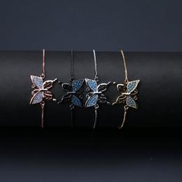 $enCountryForm.capitalKeyWord NZ - Delicate Resin Beads Butterfly Charm Women Bracelet Gold Silver Black Adjustable Chain Bracelets for Women Jewelry Gift