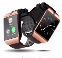 $enCountryForm.capitalKeyWord Australia - Wholesale DZ09 Watch Bluetooth Smart Watch Smartwatch DZ09 Android Phone Call Relogio 2G GSM SIM TF Card Camera for Android PK GT08 A1