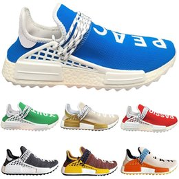 1848b4b3d42a8 Top 2018 Human Mens Race Trail Running shoes Pharrell Williams Sneaker Women  Green Blue Gold Yellow Red Nerd Sports Sneakers size 36-46 pharrell williams  ...