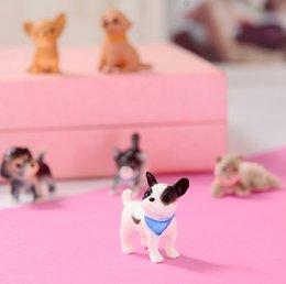 Reasonable French Bulldog Sleepy Corgis Dog Decor Animals Dolls Kids Giftstoys Action Figures Pvc Model Toy Landscape Toys & Hobbies