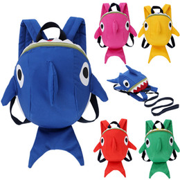 5 Color Cartoon kids backpack Baby Arlo Anti Lost kindergarten girls boys  children backpack school bags Cute animals Shark Backpacks 579 04be7c02d52f6