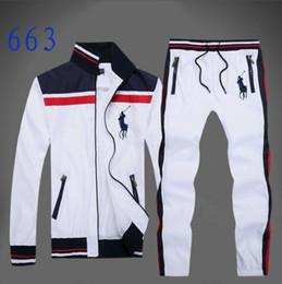 Vente en gros Veste à col montant pour homme classique à l'intérieur d'un pantalon en maille vêtement de sport en automne et en hiver costume de sport de designer