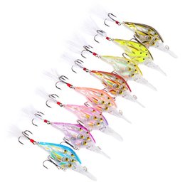 "Discount trout hard lures hooks - Ball Crankbait Bass Baits 9cm-3.54"" 12.59g-0.44oz Crank Fishing Lures 8 Color 4# Feather Hook Bass Bait Trout Tackl"