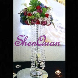 $enCountryForm.capitalKeyWord UK - 20pcs lot ,wedding decoration crystal chandelier chain,lloy Metal Type and Weddings Use glass vase for centerpiece, ship for free from china