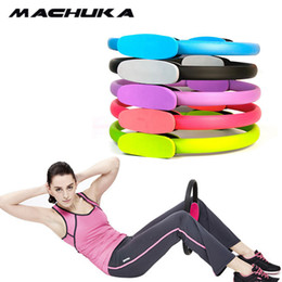 Fitness Training Equipment Canada - MACHUKA Sports Yoga Pilates Ring Training Durable Pilates Rings Fitness Equipment Circle Brand Yoga Accessories hoop for Home