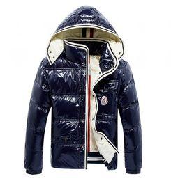 Black rivet jackets men online shopping - 2018 Designer Jackets Winter Jacket Mens White Duck Down Jacket With Hoodies Black Blue Doudoune Homme Hiver Marque Outwear Parka coat