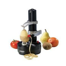 Nova espiral elétrica maçã peeler cortador fatiador de frutas peeling máquina automática de bateria com carregador eu plugue venda por atacado