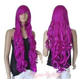 "$enCountryForm.capitalKeyWord UK - Free shipping+++++35"" Heat resistant Long Bang Magenta Purple Spiral Wavy Cosplay Party Hair Wig heat resistant fibers Hair wigs"