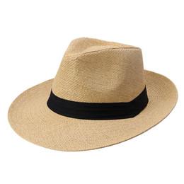 fc7f222edf8e4 Women Lady Men Straw Hat Beach Summer Wide Brim Cap Breathable Panama  Fashion Sunhat ASD88