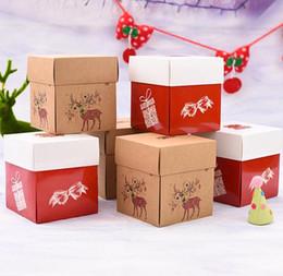 $enCountryForm.capitalKeyWord Australia - 12.5x12.5x14.2cm cake box Food cake biscuit chocolate box Christmas Party Holiday Wedding Children's gift box 100pcs set SN2212