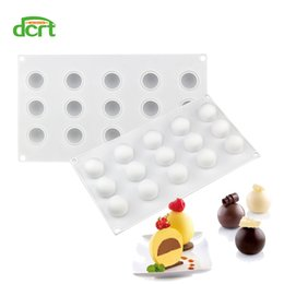 Silicone Cake Ball NZ - 15 Holes Ball Shaped Silicone Cake Mold For Truffles Chocolate Desserts Baking Pan Cakes Decorating Tools Kitchen Accessories