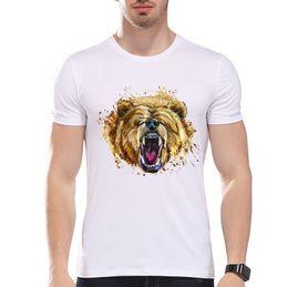 $enCountryForm.capitalKeyWord Canada - Roaring Bear Watercolor Artwork Wildlife Funny Joke Men T Shirt Tee T Shirt
