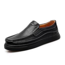 men thick sole shoes 2019 - Men Genuine Leather Casual Shoes Business  Mocasssins Cow Leather Non e106b16138e