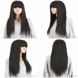 $enCountryForm.capitalKeyWord NZ - kabell wig Full Lace Wig Transparent net color #1 Plucked Natural Hairline With Baby Hair Brazilian Remy Hair Wig Eva Hair Black White Women