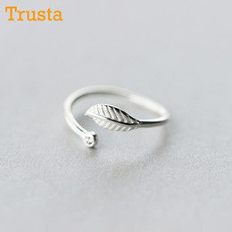 $enCountryForm.capitalKeyWord Australia - whole saleTrusta 100% 925 Sterling Silver Fashion Jewelry Cute Leaf Cocktail Ring Sizable 5 6 7 Girls Kids Xmas Gift DS312 Drop Shipping
