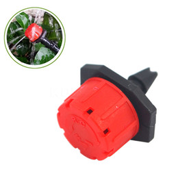 Chinese  Garden Irrigation Misting Micro Flow Dripper Drip Head 1 4'' Hose Barb watering Sprinkler Pot for Greenhouse 50pcs Lot manufacturers