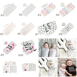 956df81337 Infant Cotton Cocoon Swaddle Blanket 2 Piece Set Sleeping Bags +Cap(  headband ) Newborn Baby Sleep Sack