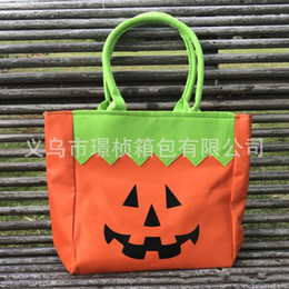 Wholesale gift snacks online shopping - Portable Halloween Gift Storage Bag Pumpkin Cat Pattern Tote Bags Resuable Snack Candy Handbag New Arrival jz BB