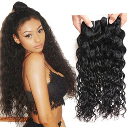 dyeable hair weave 2019 - Unprocessed Brazilian Body Loose Deep Wave Curly Hair Weft Kinky Straight Human Hair Peruvian Indian Malaysian Hair Exte