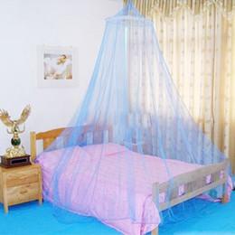 Опт Летнее москитная чистая элегантная круглый кружевной кровать кровать навес сетка занавес повесить купол москитная сетка для крытого на открытом воздухе