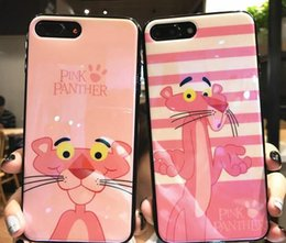 panther apple Canada - For iPhone X 8 7 6 6s Plus 5 5s Cartoon Pink Panther Cases Crystal Gel Case For iPhone Ultra Soft TPU Clear Case