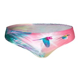 Sexy men faShion Swimwear online shopping - Sexy Men Briefs for New Swimwear Small Size Low Elasticity Fashion Print Beach Swimsuit Gay Boy Board Bathing Suits Bikini Wear