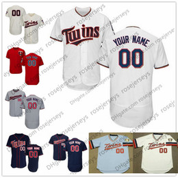 918ed7e0577 Custom Minnesota Baseball Jerseys Mens Womens Youth Kids Gray Road White  Navy Blue Red Personalized Stitched Any Your Own Name Number S