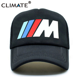 CLIMATE Men New Mesh Trucker Caps M3 M5 Car Fans Cool Summer Adult Logo Cool  Black Baseball Mesh Net Trucker Caps Hat for Men caa36501b