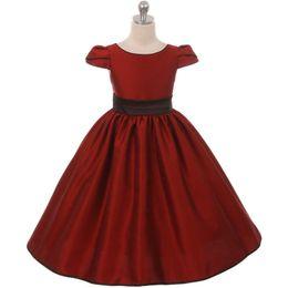9154e5d9e25 RED Flower Girl Dress Wedding Graduation Recital Bridesmaid Formal Party  Dance Formal Occasion